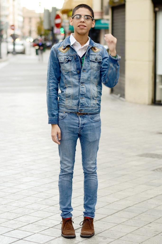 Denim Jacket With Jeans Men - JacketIn