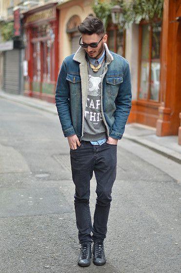 Denim Jacket And Black Jeans
