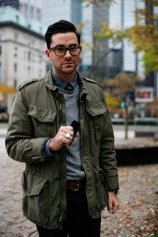 Contrast Sleeves Jacket