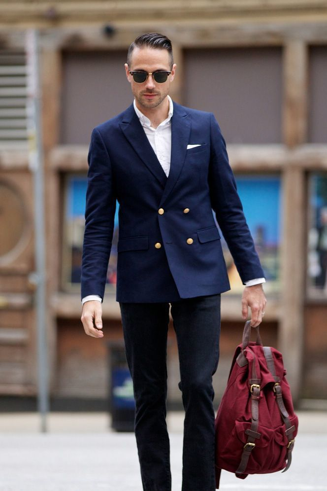 How to Wear a Navy Double Breasted Blazer (139 looks) | Men's Fashion