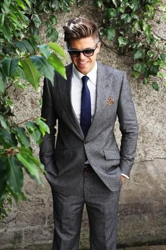 Plus Super Skinny Blazer In Charcoal Jersey