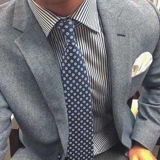 Hand Blocked Print Tie
