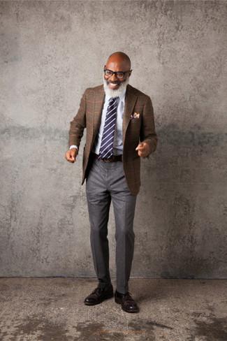 Narrow Striped Club Tie