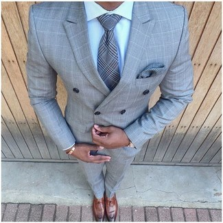 Wedding Check Suit Pants