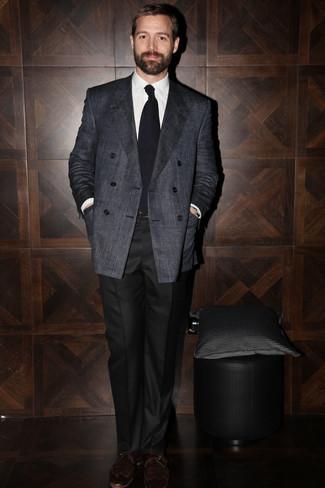 Slim Suit Pants In Black Cord