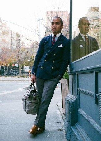 Men's Looks & Outfits: What To Wear In 2020: A navy double breasted blazer and blue dress pants are among the basic elements of a solid menswear collection. A nice pair of brown leather chelsea boots is an effortless way to punch up your outfit.