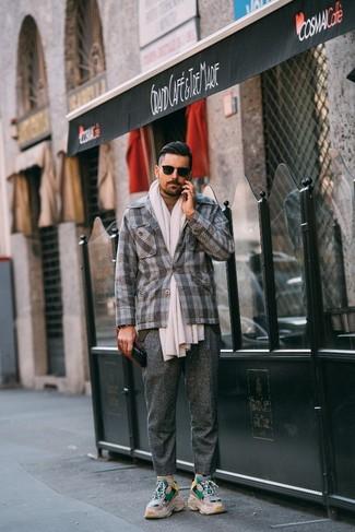 New York Classic Fit Plaid Wool Sport Coat