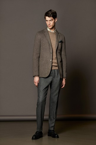 Genesis Flat Front Solid Stretch Wool Cashmere Trousers