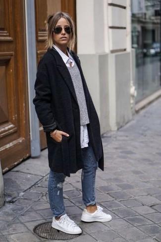 Boyfriend Coat With Zip Pocket