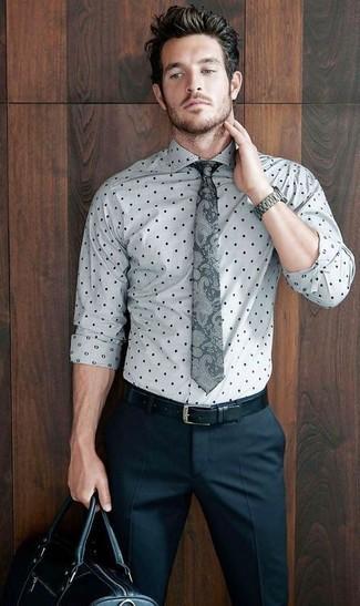 Polka Dot Dress Shirt Mens Beautiful Men S White Navy Grid Plaid Slim Fit