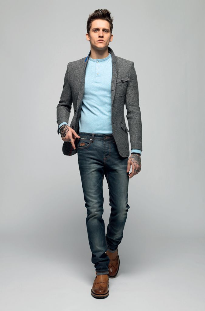 How To Wear a Grey Blazer With Navy Pants | Men's Fashion