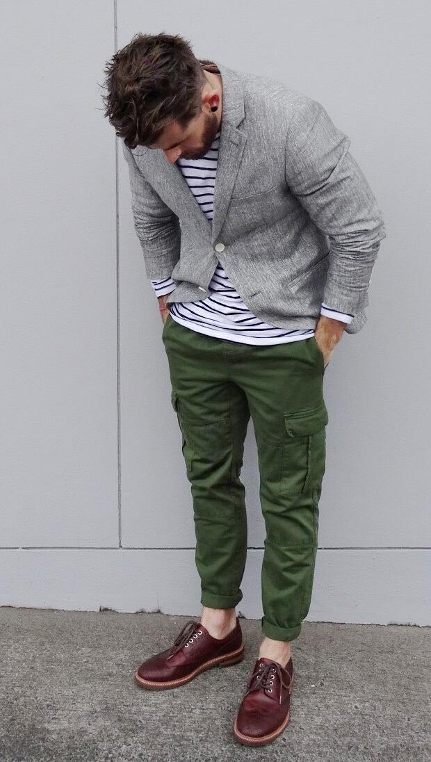 How to Wear Dark Green Cargo Pants (37 looks) | Men's Fashion