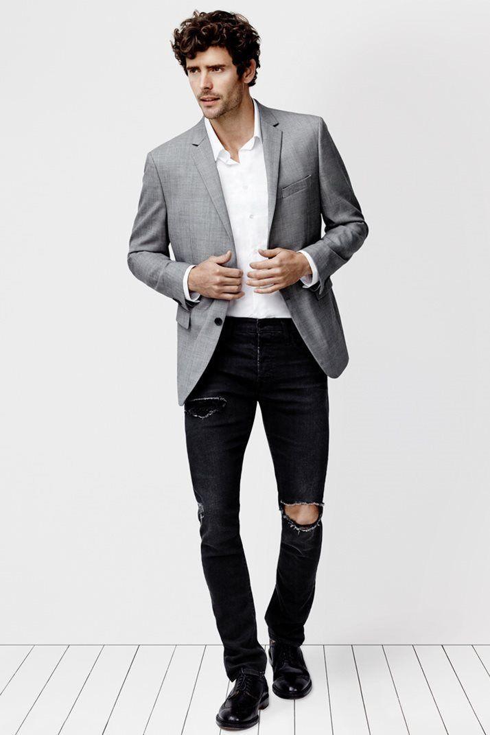 mens grey sports jacket  jacketin