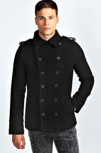 Denim Bond Pea Coat
