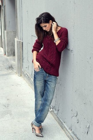 Blue Label Cable Knit Linen Sweater