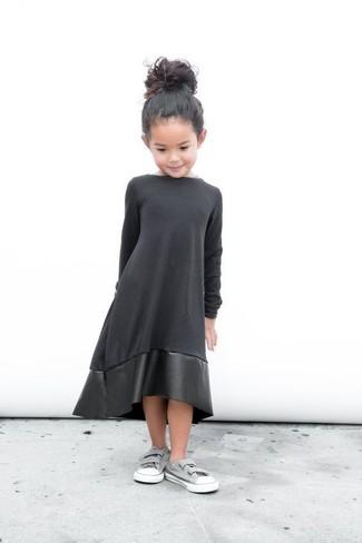 U Faux Leather Sleeveless Dress