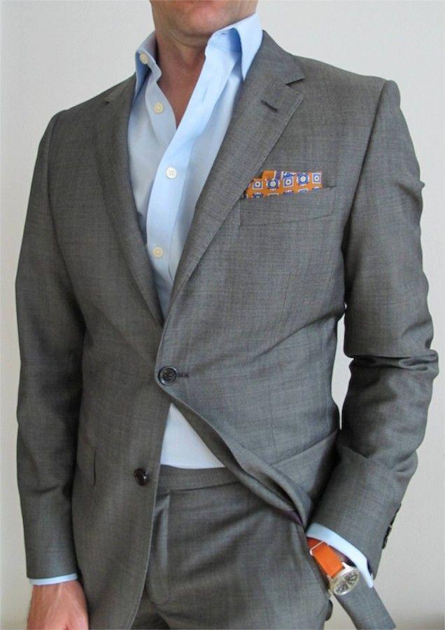 grey suit light blue shirt go suits