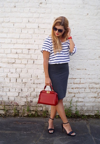 Natali Striped T Shirt With Scoop Back