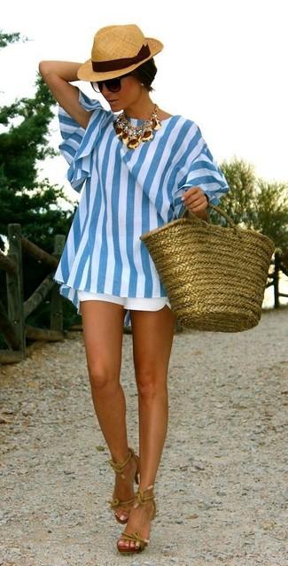 Frayed Trim Shorts