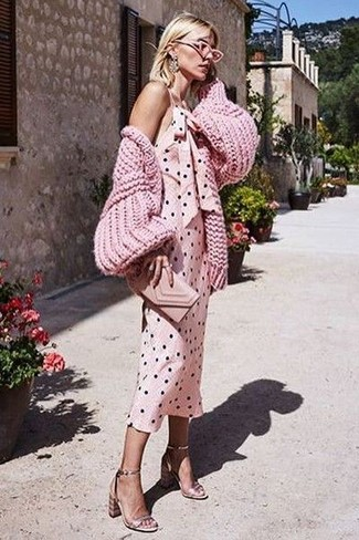 7c9ceacd6a7 How to Wear a Hot Pink Cardigan For Women (52 looks   outfits ...