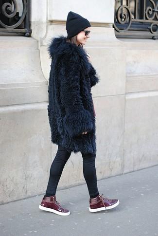 Buttoned Fur Coat