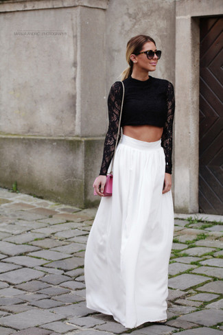 aed11aa4d06 Naanaa High Neck Crop Top In Lace With Choker Detail, £22 | Asos ...