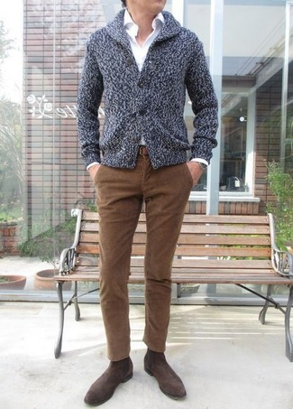 Cotton Shawl Collar Cardigan