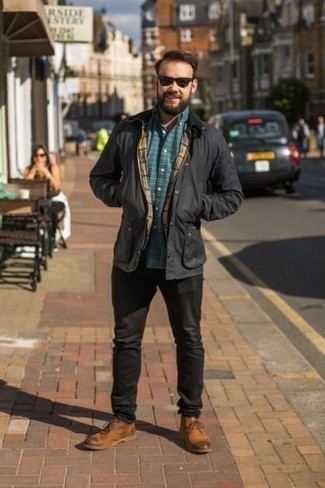 How To Wear Black Jeans With Tobacco Leather Boots For Men