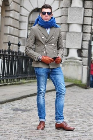 blue shoes with blue jeans
