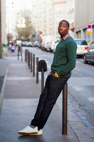 Straight Leg Denim Jeans