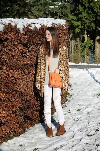 Denim Supply Leopard Print Pea Coat
