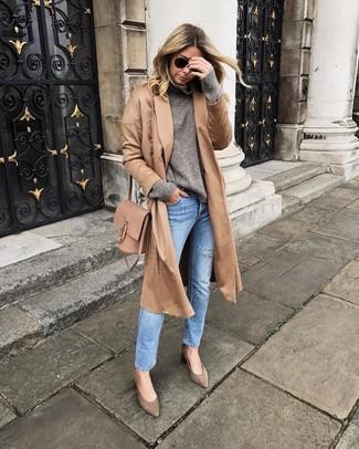 Cashmere Blend Belted Coat