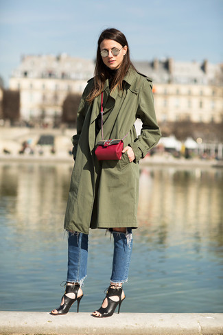 The Westminster Long Cotton Gabardine Trench Coat