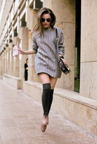 7ef7357e3 Prada Lace Trimmed Ribbed Cotton Knee Socks Dark Gray