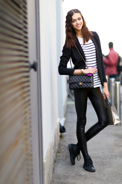 Wear Sneakers Top To Black With Leggings3 How High Leather WD9eYEH2I
