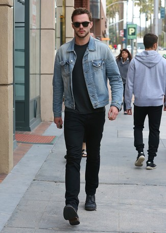 How To Wear a Denim Jacket With Black Jeans | Men's Fashion