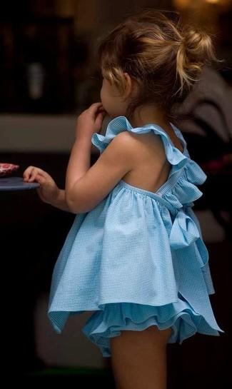 How to wear: light blue dress