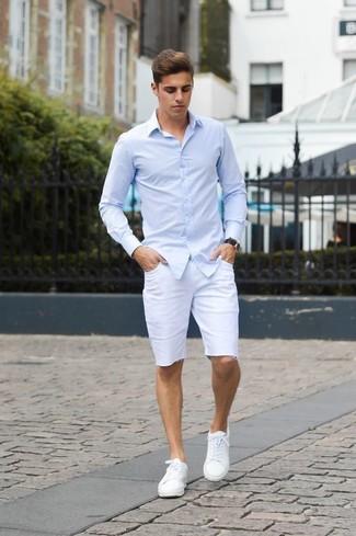 Long sleeve dress shirt shorts