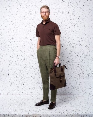 How to Wear a Burgundy Leather Watch For Men: A burgundy polo and a burgundy leather watch have become a must-have casual combination for many style-savvy guys. Infuse this outfit with an extra dose of style with burgundy leather loafers. Overall, an ideal demonstration of smart casual style for guys in their 30s.