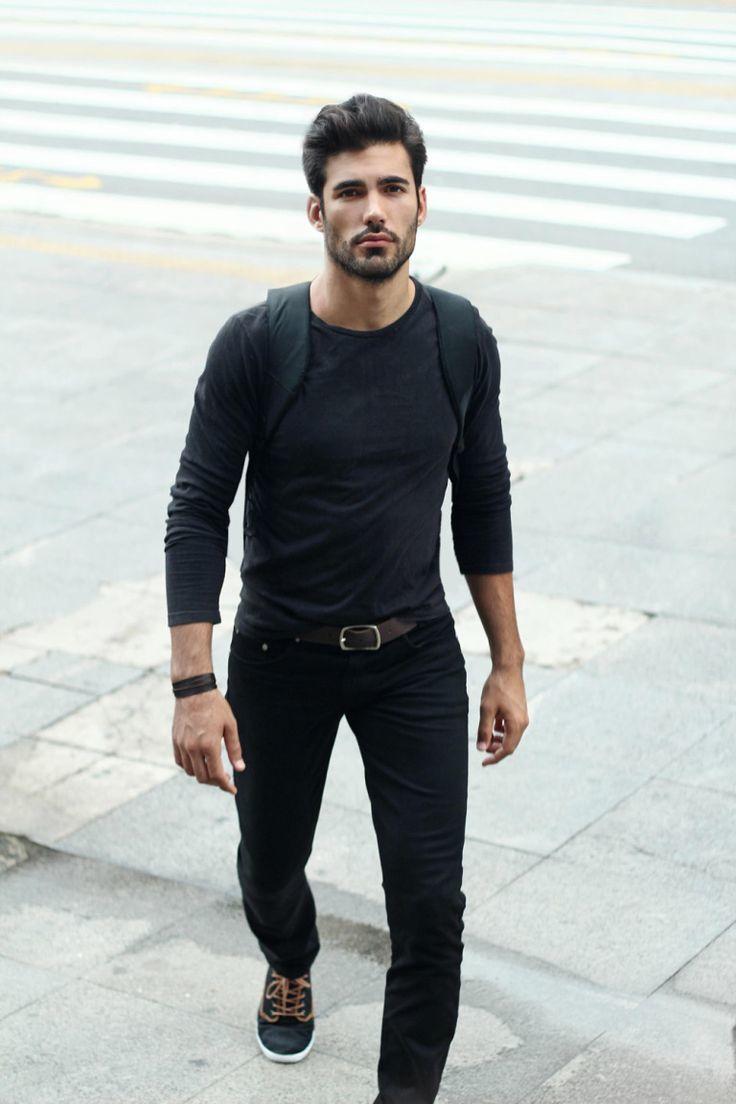 Charcoal Long Sleeve T-Shirt | Men's Fashion