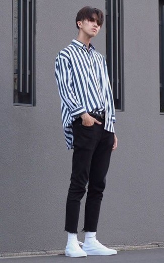 Custom Fit Striped Dress Shirt