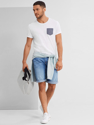 Which Crew-neck Sweater To Wear With Light Blue Shorts   Men's Fashion