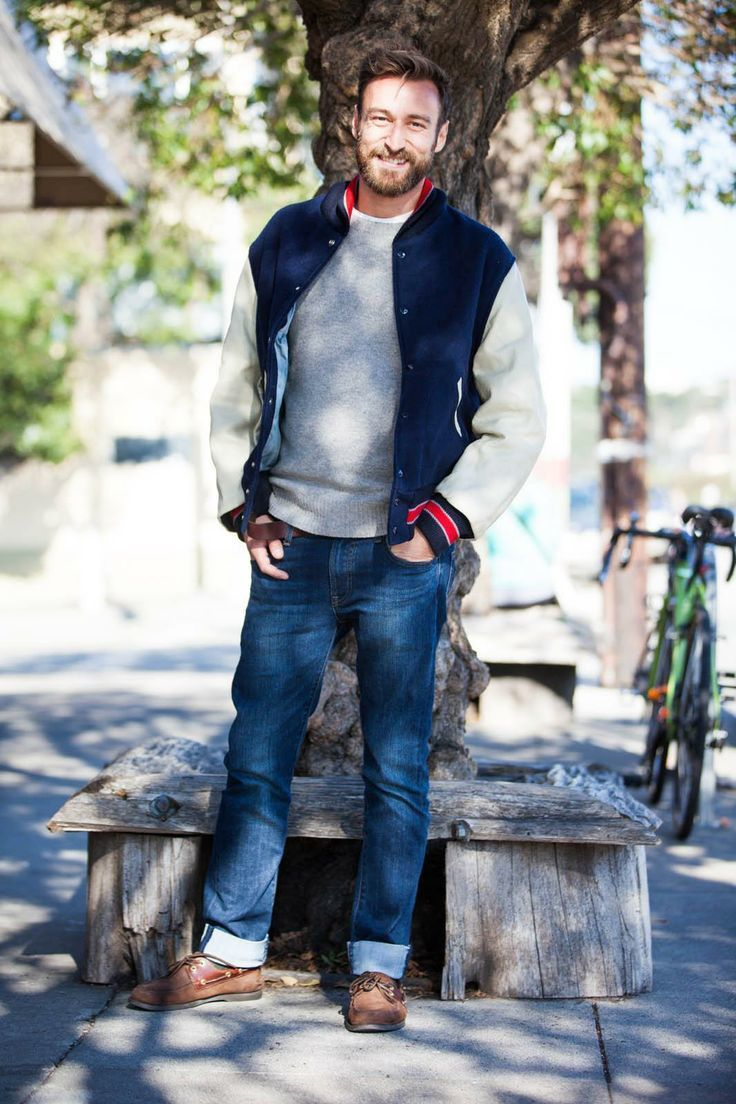 How To Wear Blue Jeans With Brown Boat Shoes | Men's Fashion