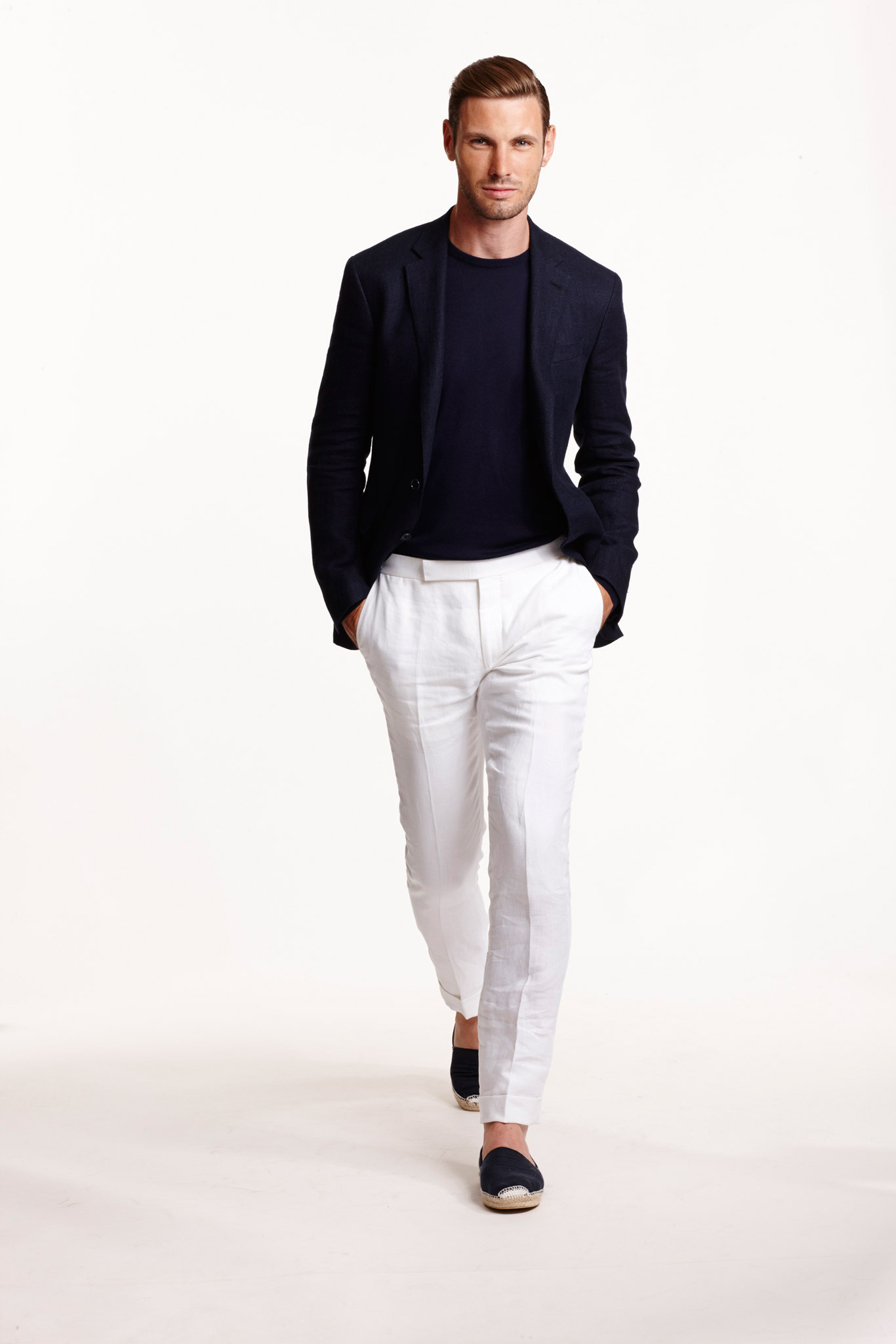 How To Wear a Navy Blazer With White Dress Pants | Men's Fashion