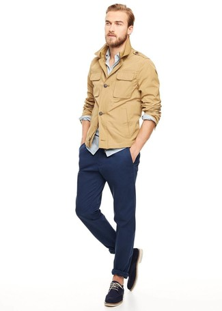 How To Wear Navy Chinos With a Light Blue Shirt (69 looks   outfits ... bbccc959a0ca