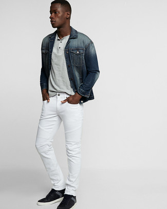 Which Denim Jacket To Wear With Black Sneakers 27 Looks Outfits