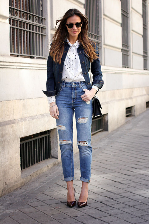 How To Wear Dark Brown Pumps With Blue Jeans 30 Looks Outfits
