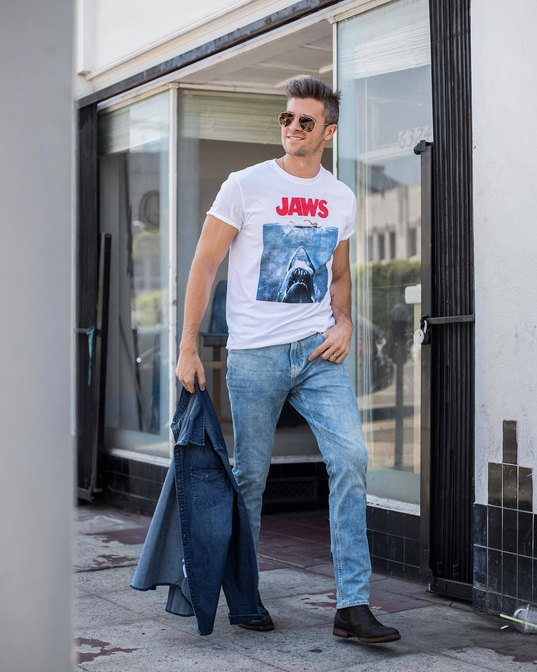 How To Wear A Denim Shirt With Light Blue Jeans 17 Looks Outfits