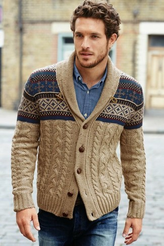 Denim Supply Printed Shawl Cardigan