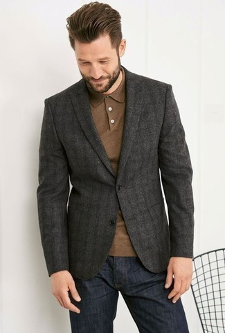 Which Blazer To Wear With Navy Jeans For Men: A blazer and navy jeans are a pairing that every modern gentleman should have in his casual closet.